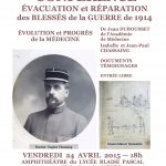 Evacuation et réparation des blessés de la Guerre de 1914
