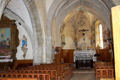 Saint-Vert. Intérieur de l'église (photo F. Chommy)