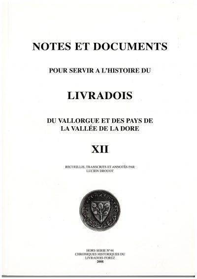Notes et documents, tome 12 - L. Drouot
