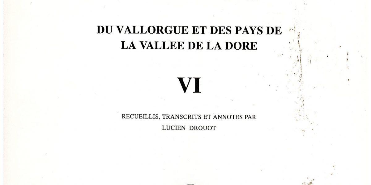 Notes et documents, T6 - L. Drouot